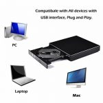 Externe DVD Graveur, iAmotus DVD/CD Lecteur Portable USB 2.0 CD DVD +/-RW ROM Player Compatible Windows XP/7/8/10/Vista/ Linux, MAC OS pour Ordinateurs de Bureau/Portable Apple MacBook Air/Pro -Noir de la marque image 5 produit