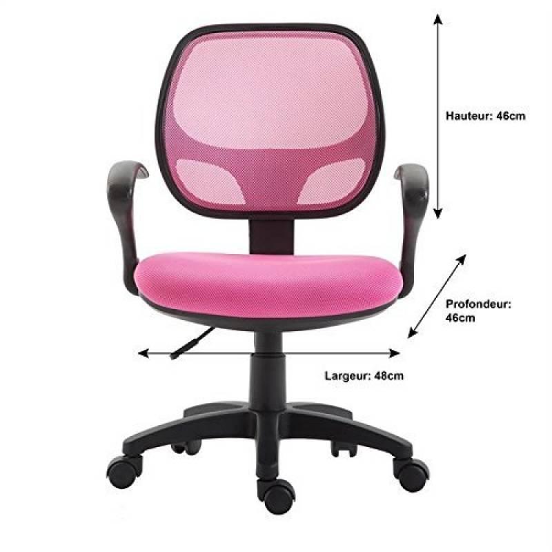 Chaise bureau enfant rose pour 2019 faire une affaire - Chaise de bureau avec accoudoir ...