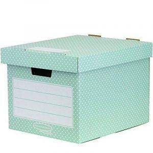 Fellowes 4481301 Style Lot de 4 Boîtes de rangement Vert/Blanc de la marque image 0 produit