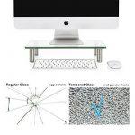 Fitueyes Support pour Réhausseur Ordinateur PC TV en Hauteur Réglable en Verre Trempé 38.5x24x7.6cm DT103801GC de la marque image 6 produit