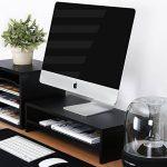 Fitueyes Support pour Réhausseur Ordinateur pour Ecran PC Ordinateur Portable Moniteur Stand en Bois Noir DT205401WB de la marque image 2 produit