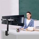 """FLEXIMOUNTS D1D Support de bureau pour 2 écrans LCD de 10""""-27"""" (25cm-68cm), clamp équipé, charge max 10kg par moniteur de la marque Fleximounts image 6 produit"""