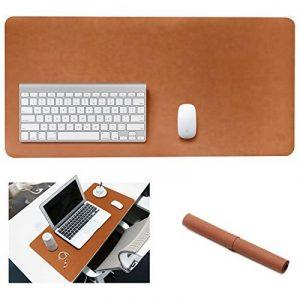 Grand tapis/sous-main de souris en cuir Yikda, grand sous-main d'ordinateur de bureau en cuir, tapis de souris, étanche, ultra fin de 1,2mm, 80 cm x 39,9 cm de la marque Yikda image 0 produit
