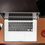 Grand tapis/sous-main de souris en cuir Yikda, grand sous-main d'ordinateur de bureau en cuir, tapis de souris, étanche, ultra fin de 1,2mm, 80 cm x 39,9 cm de la marque Yikda image 6 produit