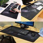 halomy Gaming Mouse Pad - 90 x 40 x 0,2 cm Grande Sous-main carte du monde Tapis de souris avec antidérapant Base de caoutchouc naturel, double Tissage Tissu Surface Design - serré et lisse, à n'importe quel Mouse, clavier et ordinateur portable de la image 3 produit