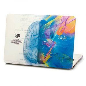"""Herngee Coque en plastique rigide pour Apple MacBook, motifs Cerveau gauche «Mathématiques» et Cerveau droit «Musique» 15.4"""" Pro with Retina multicolore de la marque image 0 produit"""