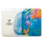 """Herngee Coque en plastique rigide pour Apple MacBook, motifs Cerveau gauche «Mathématiques» et Cerveau droit «Musique» 15.4"""" Pro with Retina multicolore de la marque image 2 produit"""