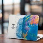 """Herngee Coque en plastique rigide pour Apple MacBook, motifs Cerveau gauche «Mathématiques» et Cerveau droit «Musique» 15.4"""" Pro with Retina multicolore de la marque image 5 produit"""