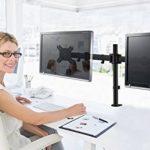 HFTEK® HF29DB Dual double Support de bureau pour 2 écran support de table pour moniteurdesk mount bracket (HF29DB) de la marque HFTEK image 2 produit