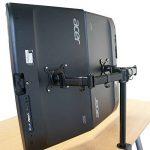 HFTEK® HF29DB Dual double Support de bureau pour 2 écran support de table pour moniteurdesk mount bracket (HF29DB) de la marque HFTEK image 4 produit