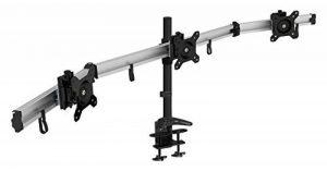 HFTEK MP230C-L Support de bureau pour 3 trois moniteur desk mount support de table pour Moniteur LED écran LCD Moniteur 15 17 19 20 21 22 23 24 27 32 pouces avec VESA 75 / 100 de la marque HFTEK image 0 produit