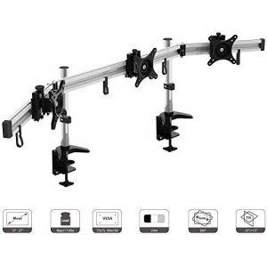 HFTEK® MP230C-N Support de bureau pour trois moniteur écran 15'' - 27'' pouces avec VESA 75 / 100 de la marque image 0 produit
