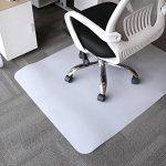 HJ® Tapis protecteurs respectueux de l'environnement Tapis protecteurs écologiques semi-transparents Tapis de chaise rectangulaire laiteux de la marque image 5 produit