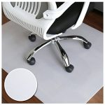 HJ® Tapis protecteurs respectueux de l'environnement Tapis protecteurs écologiques semi-transparents Tapis de chaise rectangulaire laiteux de la marque image 3 produit