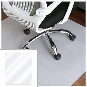 HJ® Tapis protecteurs respectueux de l'environnement Tapis protecteurs écologiques semi-transparents Tapis de chaise rectangulaire laiteux de la marque image 0 produit