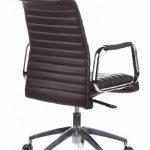 hjh OFFICE 600914 chaise de bureau, fauteuil de bureau à roulettes ASPERA 10 marron en cuir, siège pivotant haut de gamme avec accoudoirs, dossier moyen inclinable, design élégant et moderne, piètement robuste de la marque image 5 produit