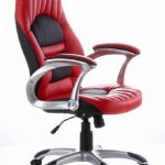hjh OFFICE 621300 chaise de bureau gaming, fauteuil gamer RACER 200 noir/rouge en simili cuir, avec accoudoirs, dossier inclinable et assise au rembourrage épais et confortable, motif piqué, réglable en hauteur de la marque image 1 produit