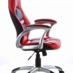 hjh OFFICE 621300 chaise de bureau gaming, fauteuil gamer RACER 200 noir/rouge en simili cuir, avec accoudoirs, dossier inclinable et assise au rembourrage épais et confortable, motif piqué, réglable en hauteur de la marque image 2 produit