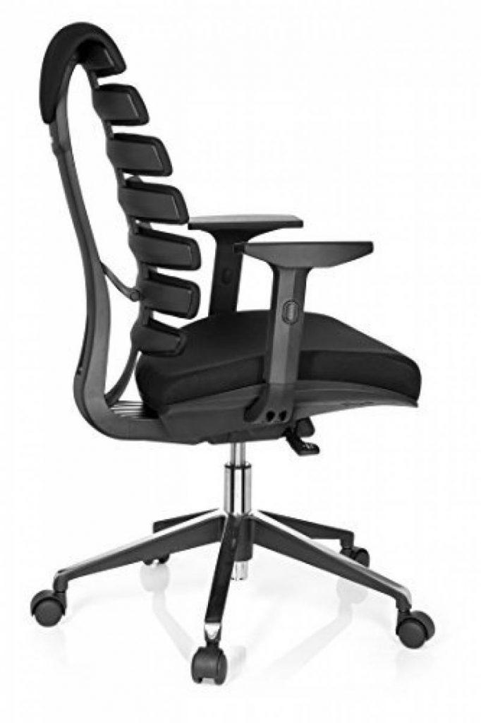 fauteuil de bureau blanc ergonomique avec accoudoirs. Black Bedroom Furniture Sets. Home Design Ideas