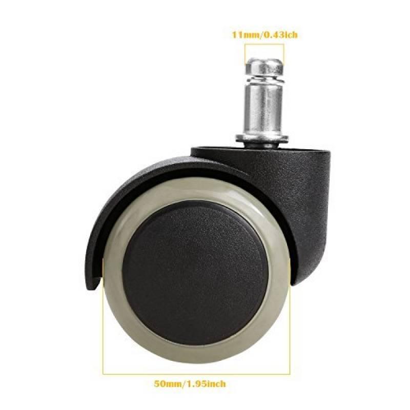 Homdox Roulettes Replacement Pour Chaise de Bureau Roulettes