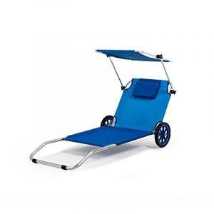 HomeKraft Maui Ride Chaise longue à roulettes 3en1 de plage, perméable à l'air, pour votre temps libre Orange de la marque image 0 produit