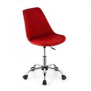 iKayaa Chaise de bureau réglable pour chaise de bureau à domicile Etude de mode pneumatique pivotante 360 ° Ordinateur Témoignage Chaise Tabouret de coque Rouge / Violet de la marque image 0 produit
