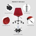 iKayaa Chaise de bureau réglable pour chaise de bureau à domicile Etude de mode pneumatique pivotante 360 ° Ordinateur Témoignage Chaise Tabouret de coque Rouge / Violet de la marque image 3 produit