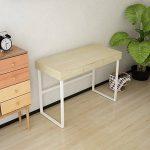 IKayaa Ordinateur Table de Bureau avec Tiroir Cadre en Métal Moderne Meuble de Bureau Mobilier de Poste de Travail 120KG Capacité 105 X 50 X 75cm de la marque image 4 produit