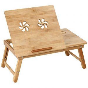 Jago - Table de Lit en Bambou Inclinable Pliable Tablette Support Ordinateur Portable (Modèle au Choix) de la marque Miadomodo image 0 produit