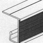 Jeu de 2 Rails en aluminium à visser sous tablette bois pour dossiers suspendus de la marque image 4 produit
