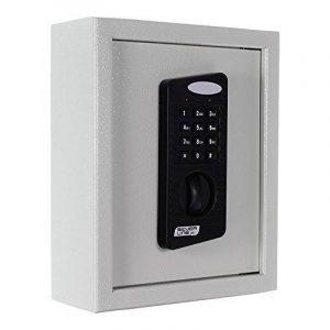 KeyTronic 20 Coffre-fort mural Armoire à clés pour 20 clés avec fermeture à code + 2 clés Boîte pour clés en acier de la marque image 0 produit