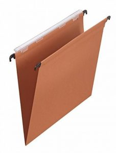 L'Oblique AZ Boîte de 25 dossiers suspendus tiroir fond V kraft orange de la marque image 0 produit
