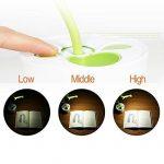 Lampe de Bureau sans Fil en Forme d'arbre et Pot à stylo avec 3 modes d'Éclairage Luminosité Ajustable Tactile Rechargeable USB Lampe de Lecture Lampe de Chevet - Vert de la marque image 4 produit