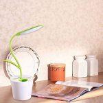 Lampe de Bureau sans Fil en Forme d'arbre et Pot à stylo avec 3 modes d'Éclairage Luminosité Ajustable Tactile Rechargeable USB Lampe de Lecture Lampe de Chevet - Vert de la marque image 5 produit