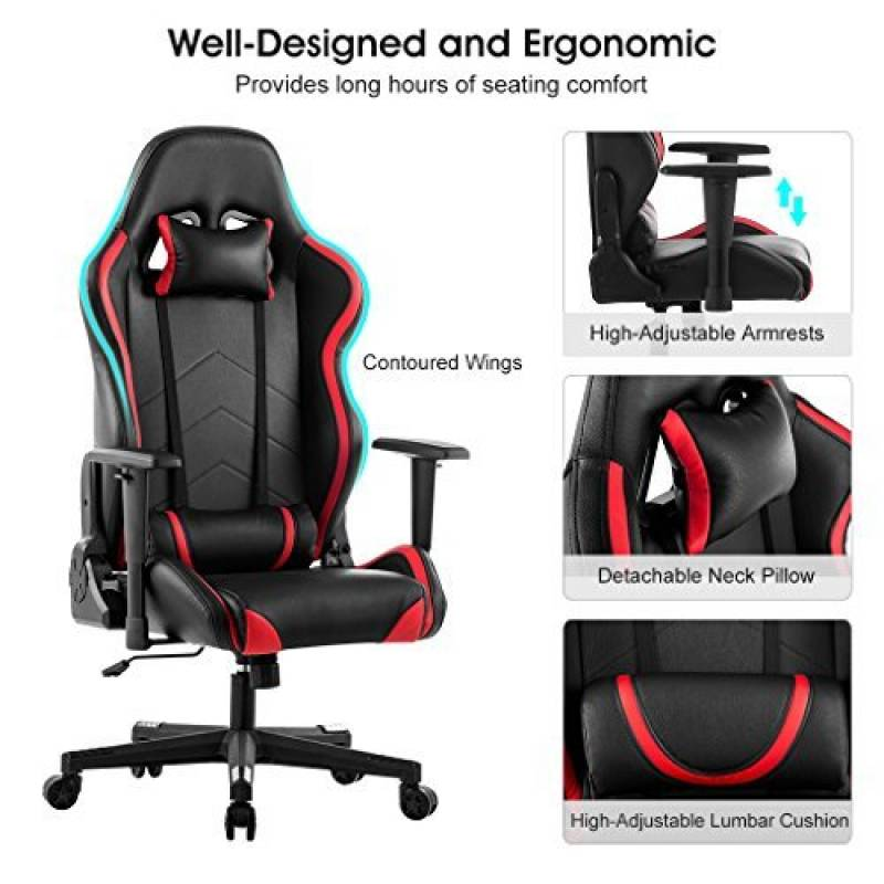 fauteuil ordinateur gamer votre top 12 pour 2018 meubles de bureau. Black Bedroom Furniture Sets. Home Design Ideas