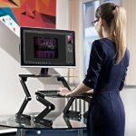 Lavolta Table de lit pour ordinateur portable Pliable Inclinable Plateau de refroidissement 2 ventilateurs Tapis de souris Alliage d'aluminium - noir de la marque Lavolta image 3 produit