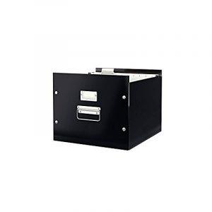 Leitz Boîte de Rangement Dossiers Suspendus, A4, Noir, Click & Store, 60460095 de la marque image 0 produit