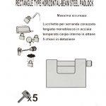 LEXPON Acier de haute securite atomique cle obturateur cadenas garage serrure 94mm de la marque image 4 produit