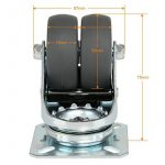 LIHAO Lot de 4 Roulettes Ultra-résistantes Pivolantes avec Frein d'arrêt pour Chariot Meuble de la marque image 4 produit