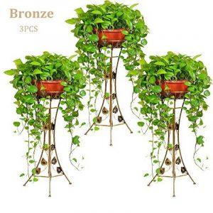 Malayas porte pots plante fleurs 4 étagères support jardin en métal fer pliable 80*50*25cm charge max 40kg de la marque image 0 produit