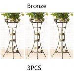 Malayas porte pots plante fleurs 4 étagères support jardin en métal fer pliable 80*50*25cm charge max 40kg de la marque image 1 produit