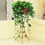 Malayas porte pots plante fleurs 4 étagères support jardin en métal fer pliable 80*50*25cm charge max 40kg de la marque image 4 produit