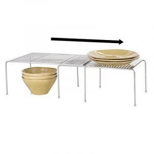 mDesign étagère de cuisine – égouttoir pratique pour plus d'espace de rangement – étagère cuisine télescopique rétractable – en métal de la marque image 0 produit