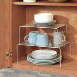 mDesign étagère de cuisine – égouttoir pratique pour plus d'espace de rangement – étagère cuisine télescopique rétractable – en métal de la marque image 4 produit