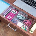 mDesign Organiseur de bureau extensible – Rangement bureau pour les accessoires de bureau ou tiroir de bureau - Boîte de rangement bureau pour marqueurs, gommes, etc. - Extensible jusqu'à 47 cm de la marque image 2 produit