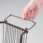 mDesign panier à multi-usages – le panier de rangement empilable – panier en fil métallique avec des poignées, bronze de la marque image 6 produit