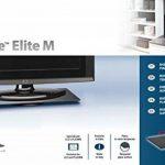"""Meliconi Rotobase Elite M Plateau rectangulaire rotatif en métal / verre pour TV LCD / Plasma 23"""" à 40'' Noir de la marque Meliconi image 3 produit"""