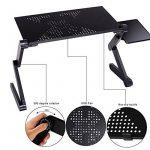 Meykey Support Ordinateur Portable Lit, Table de lit Pliable en aluminium 48 x 26 x 49 cm, Noir de la marque Meykey image 3 produit