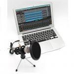 Microphone à Condensateur avec trépied Le Support pour PC, und Enregistrement Studio à la maison ,KTV Skype MSN Karaoké ,Réunion Portable Ordinateur ( jack de 3.5mm et adaptateur, 3.5/6.5mm) de la marque image 6 produit
