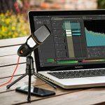 Microphone à condensateur avec trépied pour PC portable ordinateurs son enregistrement en Podcast Studio, parfait pour chat Skype MSN (Noir) de la marque image 3 produit